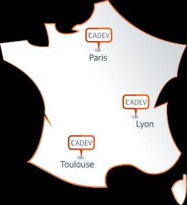 Présence de CADEV en France